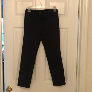 LOFT STRAIGHT LEG PANTS BLACK MARISA 0 PETITE